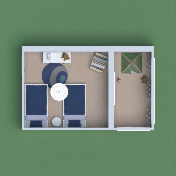 Habitación para niños simple.