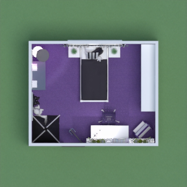 Dream girl's bedroom for a purple lover with lots of storage space. It's also versatile and has a nook for playing, a nook for studying, and a nook for dressing up. The colors and wallpapers are meant to inspire.