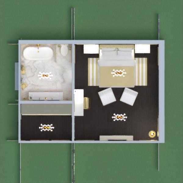 Habitación de hotel ( 5 estrellas ) muy lujosa. Color principal (Amarillo - Marrón)