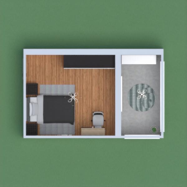 Um quarto masculino  com varanda!