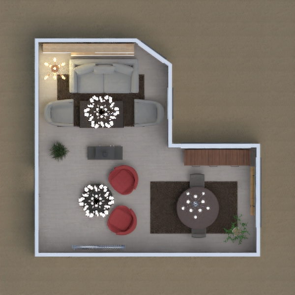 my project is about : a living room and dinning room, at the same time for the family.