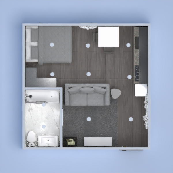 Hello, i'm italian. This is my project with kitchen, bathroom, living and bedroom. Is it beautiful?