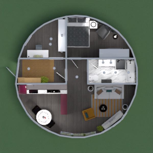 Un apartamento redondo, con líneas muy definidas.