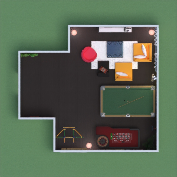 A game room where people can hang out in