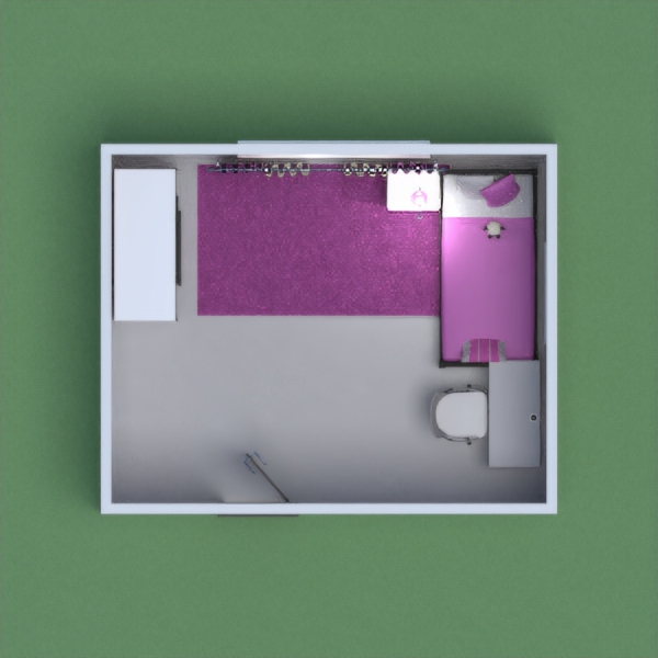 It is a girl's bedroom suitable for a child. It is pink