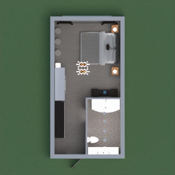 Una habitación de dormitorio matrimonial con un baño. Se basa en un estilo moderno y a la vez acogedor, contiene tocador, dos closets, veladores y luces elegantes pero agradables a la vista. Está pensado para personas dinámicas, que necesitan tener un espacio amplio para desplazarse y a la vez con una privacidad cómoda y familiar.