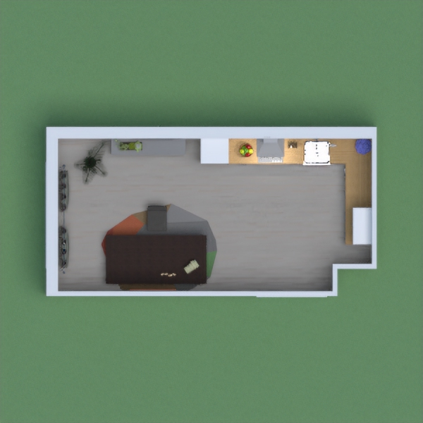 i made a small house that has kitchen,desk,shelve,and some decorations